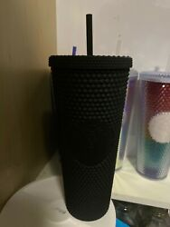Starbucks 2019 Matte Black Studded Cold Cup Tumbler Nwt