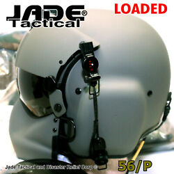 New Hgu-gentex 56/p Usa Med Helmet Maxi Facial-nvg 1 Loaded Jade Tactical