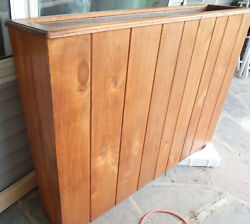 Mid-century Retro Arts And Crafts Wood And Copper Floor Planter Architecture