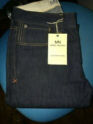 Vtg Marc Nelson Raw Denim Button Fly Jeans Menand039s 30x35 Made In The U.s.a. Nwt