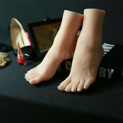 Silicone Life Size Girl Mannequin Foot Display Sandal Shoe Sock Display Art
