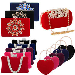 Women Flower Clutches Handbags Evening Bags Prom Party Womens Bags Purse Wallets $6.79