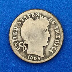1905 O Silver Barber Dime 10c Better Scarce Key Rare New Orleans Mint Coin