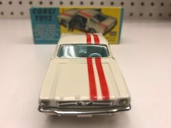 Rare Corgi Toys Vintage 325 Ford Mustang Die-cast Near Mint With Original Box