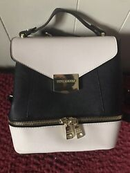 Steve Madden Black amp; Beige Satchel Backpack New $45.00