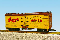 Usa Trains G Scale U.s. Reefer Car R16405 Gerst Old Ale Yellow/bc Red