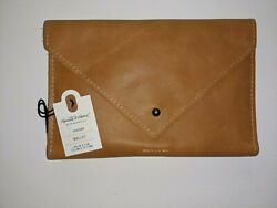 NEW Soft Leather Wallet Cognac Hearth amp; Hand Magnolia Foldover Closure $18.99