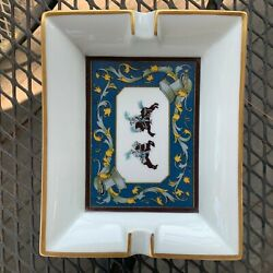 Collectible Vintage Hermes Cigar Ashtray Made Out Of Porcelainandnbsp
