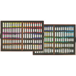 Mungyo Gallery Artists' Handmade Soft Pastel Wood Box Of 200 Colors Hand Rolled