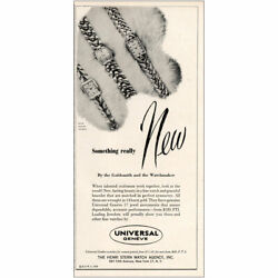 1950 Universal Geneve Watch Something Really New Vintage Print Ad