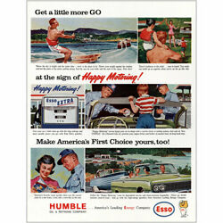 1963 Humble Oil Little More Go Sign Of Happy Motoring Vintage Print Ad