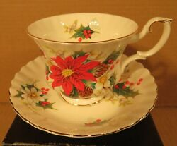Royal Albert Yuletide Cup And Saucer Made In England
