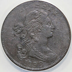 1798 1c 2nd Hairstyle S-166 Draped Bust Large Cent Anacs Ef 40