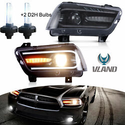 For Dodge Charger 20112014 Led Sequential Headlight Signal Bumper Corner Lamp