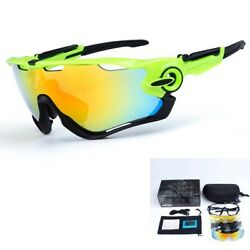 Obaolay New 3 Pair Lens Polarized Cycling Bicycle Sunglasses Jawbreaker Goggles