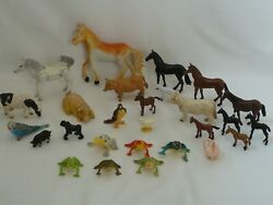 Collection Of Vintage Farm And Zoo Plastic Animals - 27 Pieces