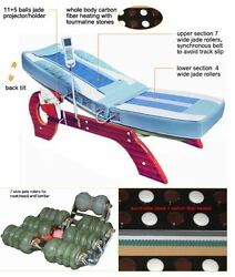 New Deluxe Jade Massage Bed Spinal Traction Table +tilt Fir Far Infrared Therapy