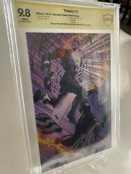 Thanos 17 3rd Print Virgin Variant Cbcs 9.8 Asp Signed By Cates And Starlin