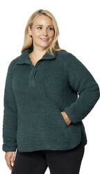 32 Degrees Sherpa Pull Over Women#x27;s Warm Long sleeved Teddy Sherpa Shirt $13.00