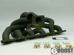 6boost High Mount Manifold For Nissan Rb20/rb25 T3 S/e Single Wastegate
