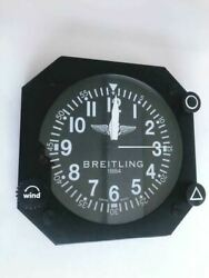Breitling 1884 Swiss Made Black Wall Clock Limited Edition Shipped From Japan