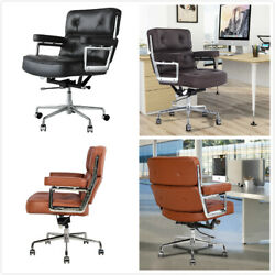 Desk Chair Computer Work Office Chair Executive Mid-back Genuine/pu Leather