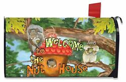 Welcome To The Nut House Summer Large Mailbox Cover Humor Oversized