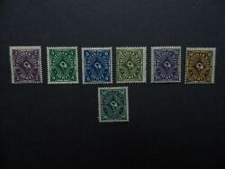 Germany Empire Post Horn 2-4-6-8-20-30 And 50 Mint Stamps.