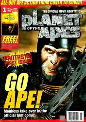 Planet Of The Apes Official Move Magazine With Poster 1 Ex Condition