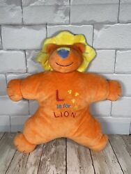Mary Meyer Baby L Is For Lion Orange Yellow Blue Plush Lovey Toy Euc 12andrdquo Clean