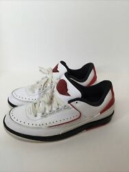 Nike Air Jordan 2 II Retro Low White Varsity Red Black 2016 Size 8 832819 101