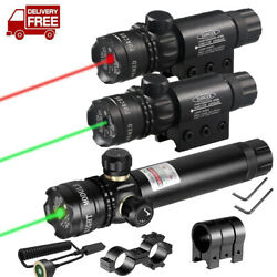 Tactical Green Red Laser Sight Rifle Dot Scope Switch Rail Barrel Mounts TOP $22.99