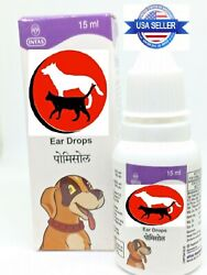 Dog Cat Ear Drops Infection Antibiotic Treatment Medicine Yeast Fungus Itching