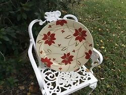 """Vintage Mcm Tray 19"""" Round """"amer. Art Wrks-social Supper"""" Christmas Charcuterie"""