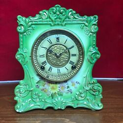 1900and039s Antique American Gilbert Mantel Clock 7 Day