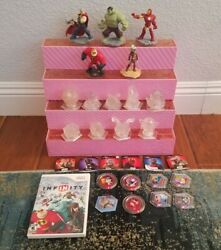 Huge Disney Infinity Crystal Lot Plus Marvel And Misc Figures And Wii Game