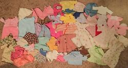 Lot of Assorted Vintage Doll Clothes 50 Pieces $40.00