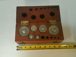 W And Le Gurley Standard Weights And Measurement Set In Wood Case Vintage