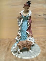"""Harrison Fisher's Gold Coast Collection """"final Instructions"""" Lady With Sheltie"""