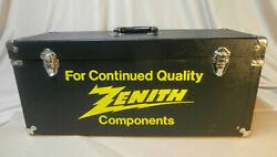 Vintage Black And Yellow Zenith Vacuumtube Parts Caddy Carrying Case