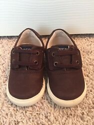 Toddler Boy Size 4 M Brown Leather Sperrys Shoes Top Siders Memory Foam
