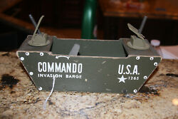 Vintage Wood Commodities Commando Toys Wooden Military Barge 1942 . Rare