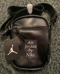 Nike Air Jordan Black Crossbody Shoulder Messenger Bag New $30.00