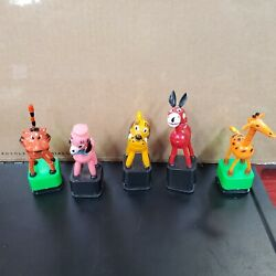 Vintage Plastic Collapsible Push Button Toys 5 - British Des Rgn. All Work