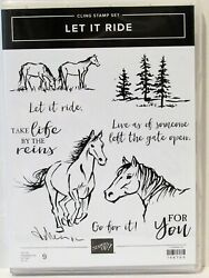 Stampin Up LET IT RIDE Stamps NEW horses For you Take life by the reins