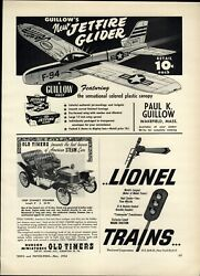 1954 Paper Ad Lionel Electric Toy Train Sets