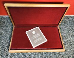 Vintage 50 Franklin Mint Proof Mayors Medals Wood Display Box Only Tt20