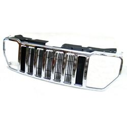 New Grille Plastic Fits Jeep Liberty 2008-2012 Ch1200317 55157218ac 4-door