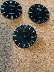 Rolex Lot Of 3 Dials For Vintage Watches Oysterdate Air King Refinished