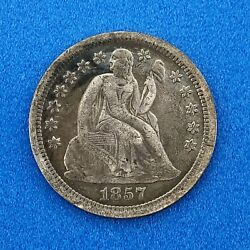 1857 O Seated Liberty Silver Dime 10c Better Key New Orleans Mint Coin